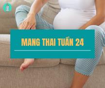 Mang thai tuần thứ 24 mẹ sẽ phải trải qua những gì?