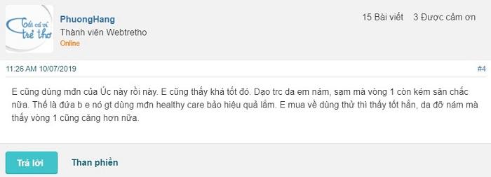 Review Mầm đậu nành Healthy Care